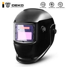 DEKO DKMZ350 Автоматическая Затемняющая сварочная маска для MIG MMA TIG сварочный шлем очки светильник фильтр сварщик паяльная работа