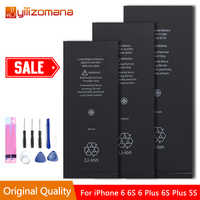 Batterie de téléphone portable d'origine YILIZOMANA pour iPhone5s 6 6s Batterie de remplacement Batterie interne pour iPhone 6plus Batterie