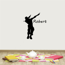 Custom Name battle Royale gamer Self Adhesive Vinyl Wall sticker For Kids Room wallstickers Bedroom Waterproof Wall Art Decal