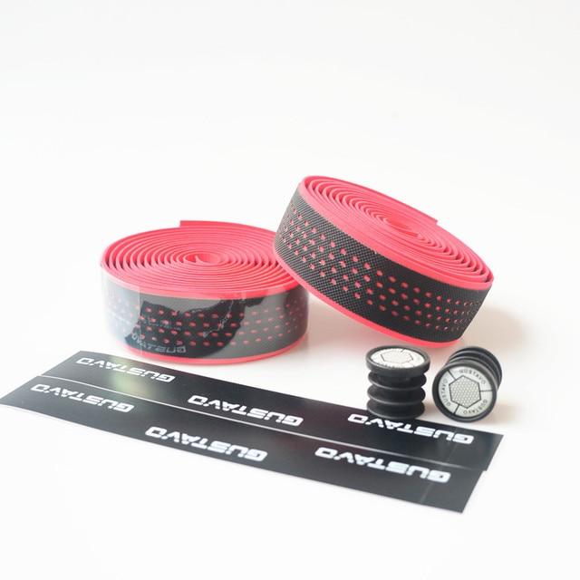 GUSTAVO Bike Handlebar Tape Anti-slip PU EVA Shock Absorption Handle Bar Tape