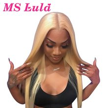 Blonde Human Hair Lace Wigs Brazilian Remy 150% 10- 32 Inch Long Wig Straight Glueless Pre Plucked Full Lace Human Hair Wigs(China)
