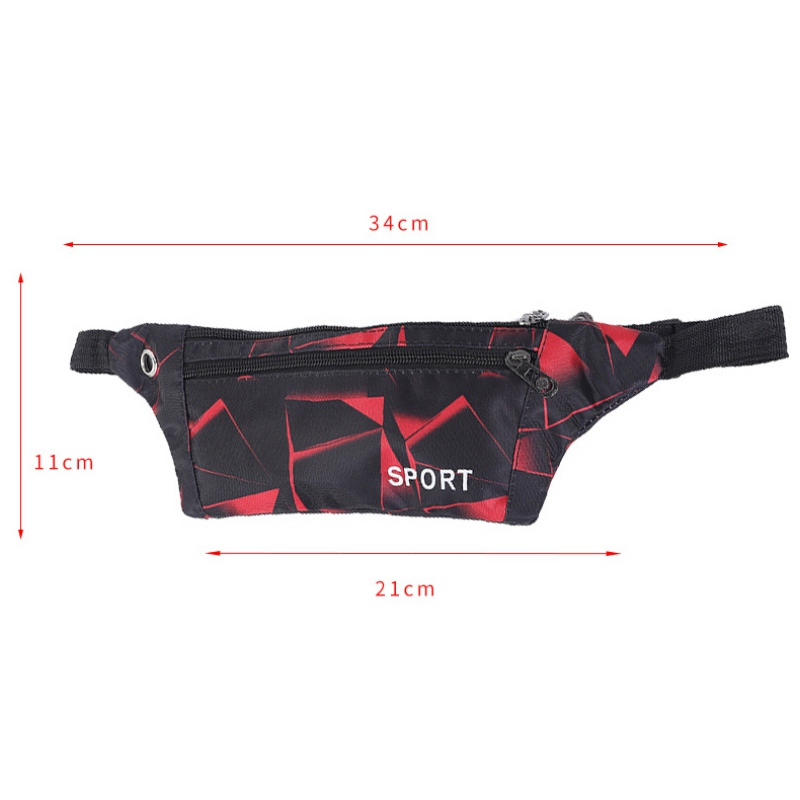Waterproof Running Waist Bag Adjustable Belt Bags Unisex Fanny Pack Double Layer Sport Pouch Bag With Earphone Hole For Phone
