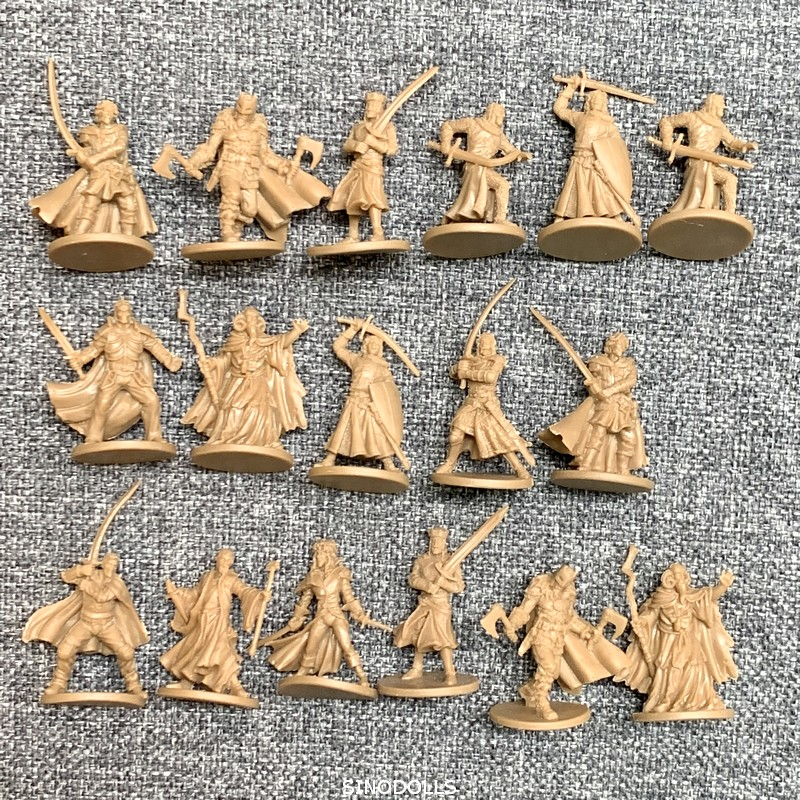 17pcs/Set 28mm Dungeons And Dragons Board Role Playing Games Miniatures Model Underground City Series Cthulhu Wars Game Figures