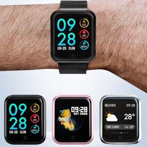 Image 5 - P68 Smart Bracelet Multi Sport Wristband IP68 Waterproof Activity Fitness Tracker Heart Rate Watch Men Women