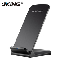 JKING 10W QI Wireless Charger Quick Charge 2.0 Fast Charging for iPhone 8 10 X Samsung S6 S7 S8 2-Coils Stand 5V/2A & 9V/1.67A