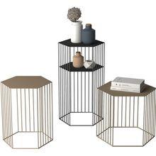 Креативные скандинавские шестиугольные цветы для гостиной искусственные