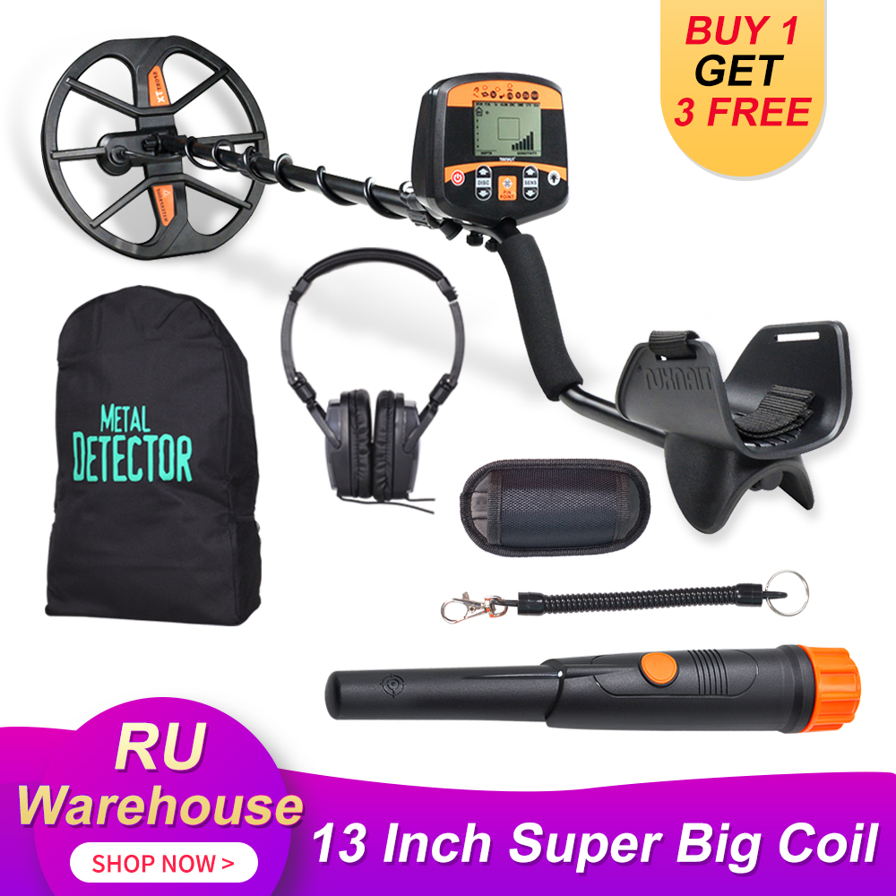 Professional Underground Metal Detector Pinpointer Gold Detector Treasure Hunter Scanner With 13