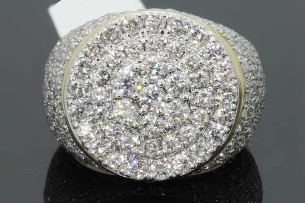 ที่ดีที่สุดขายใหม่สีเหลืองทอง 18k แหวนผู้ชายยุโรปและอเมริกาเพชร Micro ฝังแหวน Zircon