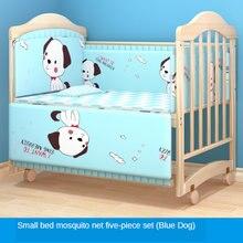 Кроватка mengbaole для новорожденных из массива дерева Неокрашенная