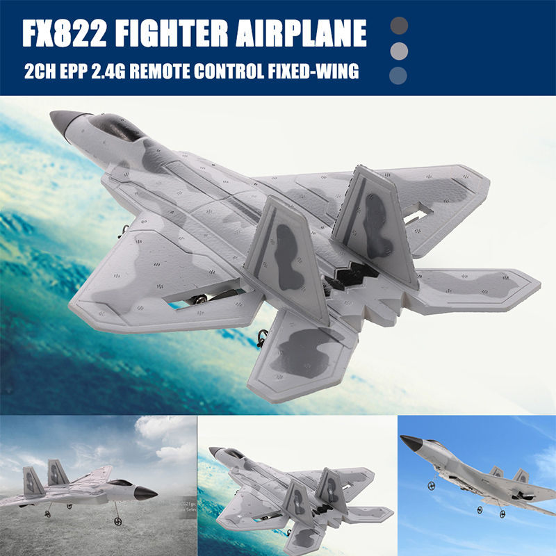 Super RC F-22 Raptor Jet Remote Control Aircraft FX-822 F22 2.4GHz EPP RC Airplane RTF With Battery Aircraft Model