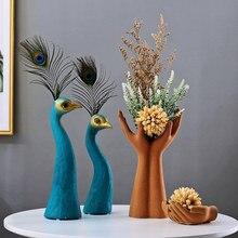 Vaso de cerâmica europeu, vaso de cerâmica europeu, enfeites de estátua, decoração, para sala de estar, para casa, estatueta de flores e artesanato