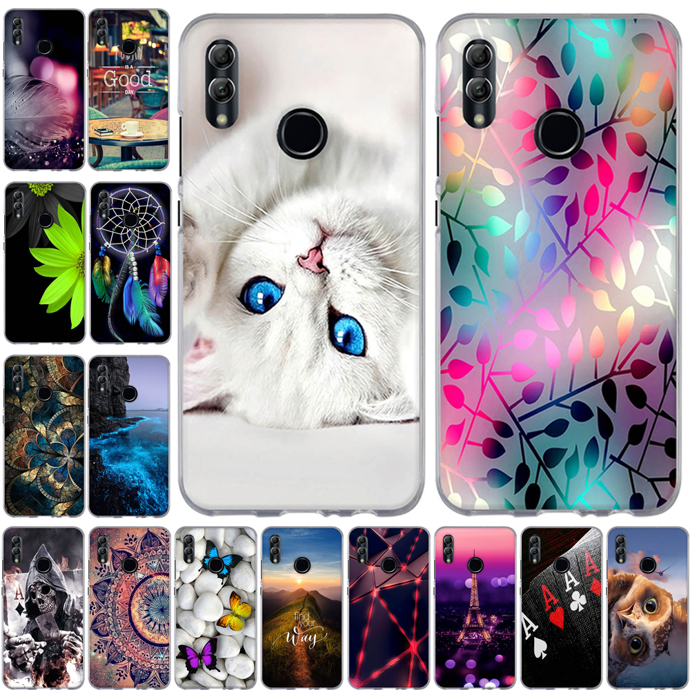 <font><b>Case</b></font> For Huawei <font><b>Honor</b></font> 10 Lite <font><b>Honor</b></font> <font><b>8X</b></font> <font><b>Max</b></font> 8C View 20 Note 10 Lite P Smart 2019 <font><b>Case</b></font> Silicone Soft Phone Back Cover Fundas Coque image