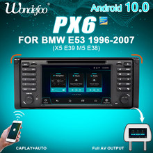 Автомагнитола WONDEFOO PX6, мультимедийная система на Android 10, с радио, для BMW X5 E53, E39, типоразмер 2 DIN