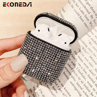 EKONEDA Case For Airpods Luxury Bling Diamonds Cover Hard Girl Protective For Airpod Case