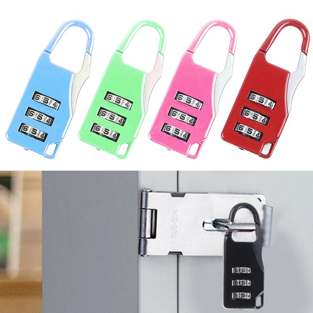 3 Digit Lock Suitcase Luggage Shed Locker Padlock Metal Password Combination