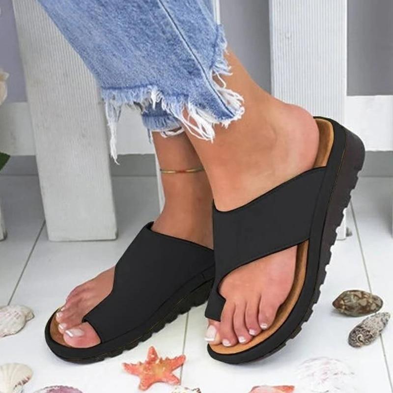 2020 New Women Sandals Light Comfort Wedge Sandals Female Sandalias Summer Women Slippers Flip Flops Orthopedic Bunion Corrector