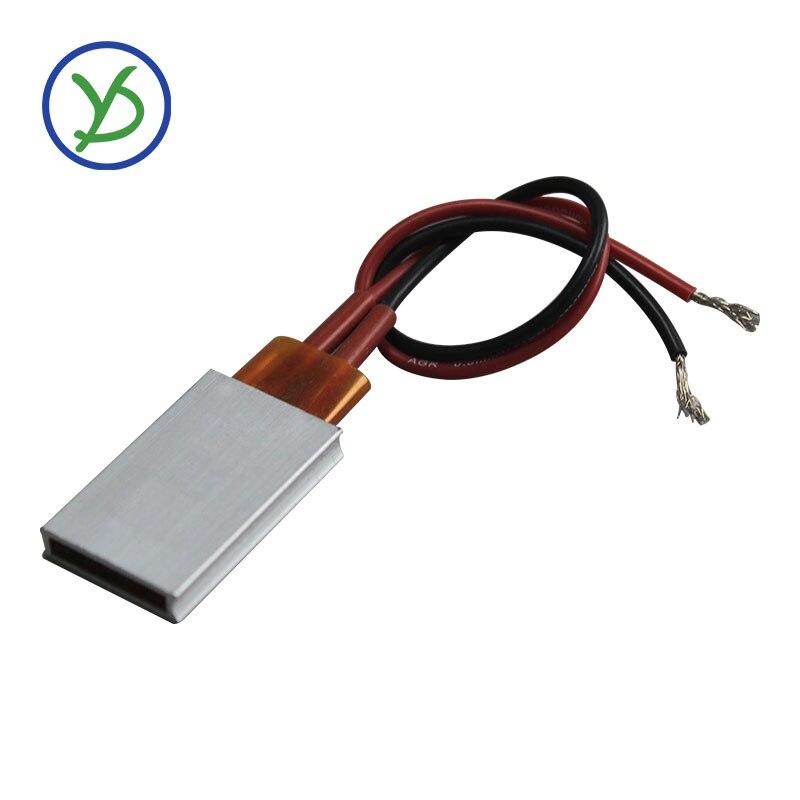 Elemento de aquecimento ptc 50w ac dc 48v temperatura constante placa termostática cerâmica 35*21*5mm