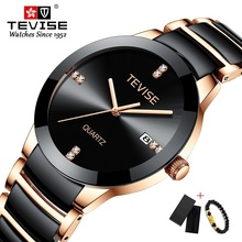 TEVISE Ceramic Watch Men Luxury Quartz W