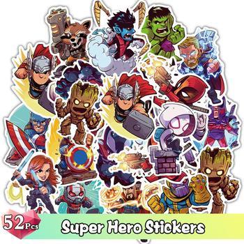 52 sztuk śliczne superbohater naklejki Cartoon śmieszne Graffiti naklejki JDM na naklejki na deskorolkę Laptop bagaż meble naklejka zabawka tanie i dobre opinie YAMIOW 4CM ~10CM PVC Waterproof Bright Colors Not Repetition About 0 04kg Cartoon Stickers none As Picture Show 52 Pcs Pack