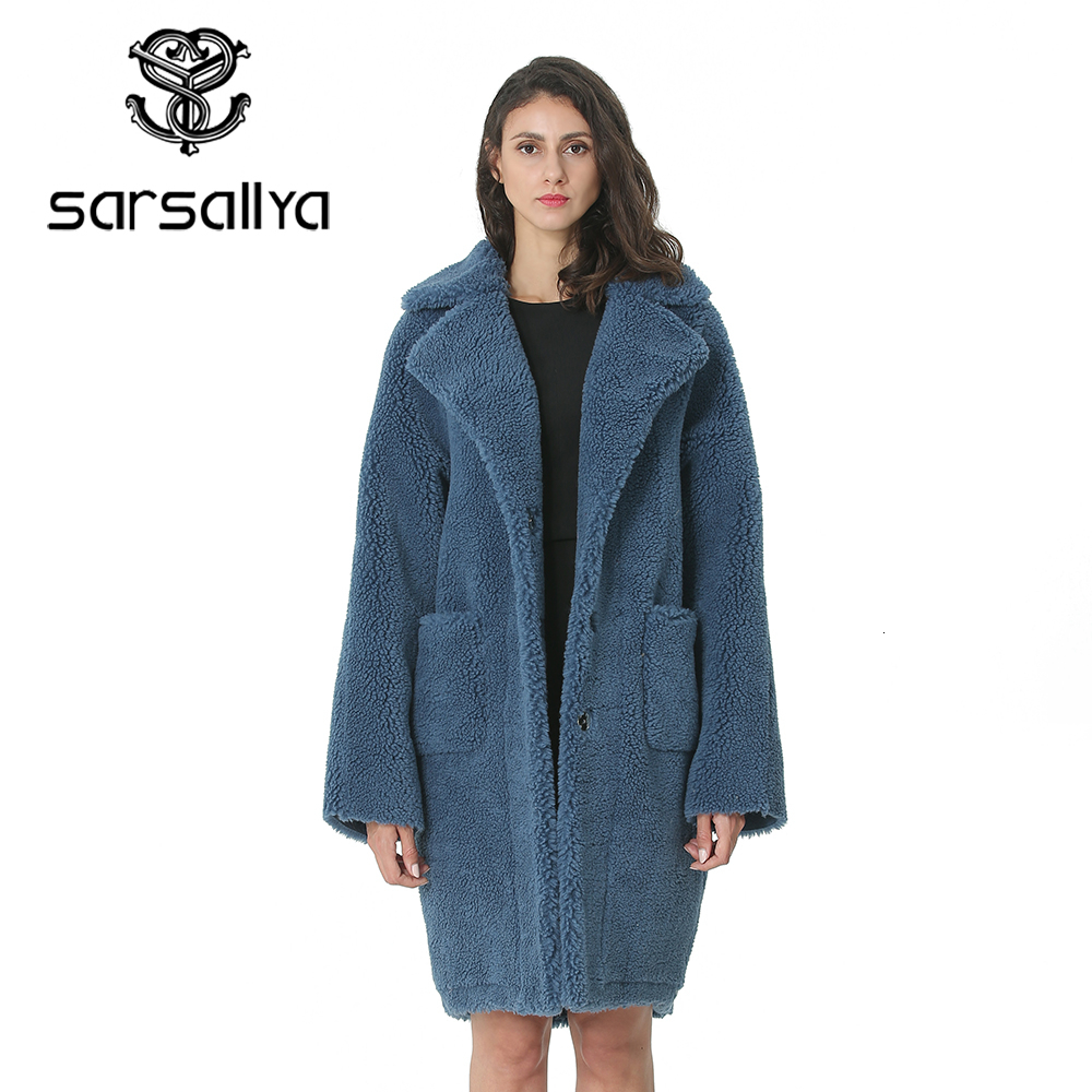 Women Coats Wool Fur Winter Long Woolen Jackets Female Warm Thick Overcoat Turndown Collar Fashion Plus Size High Quality 2019