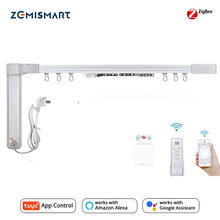 Zemismart تويا زيجبي الستار المسار اليكسا صدى جوجل المنزل التحكم عن طريق الحياة الذكية smartthing الستائر الكهربائية