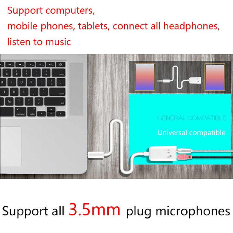 3.5mm rozdzielacz do słuchawek zestaw słuchawkowy dwuliniowy konwerter mikrofon audio Adapter
