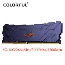 Kleurrijke 8Gb 2666 3000 3200 16Gb 8Gb DDR4 Ram Dimm Geheugen Koellichaam Desktop Ddr4