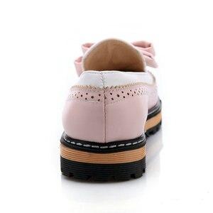 Image 3 - ESVEVA 2020 Women Flat Spring/Autumn Round Toe Flat Women Shoes Sweet Patchwork Lace Shallow PU Soft Leather Shoes Size 34 43