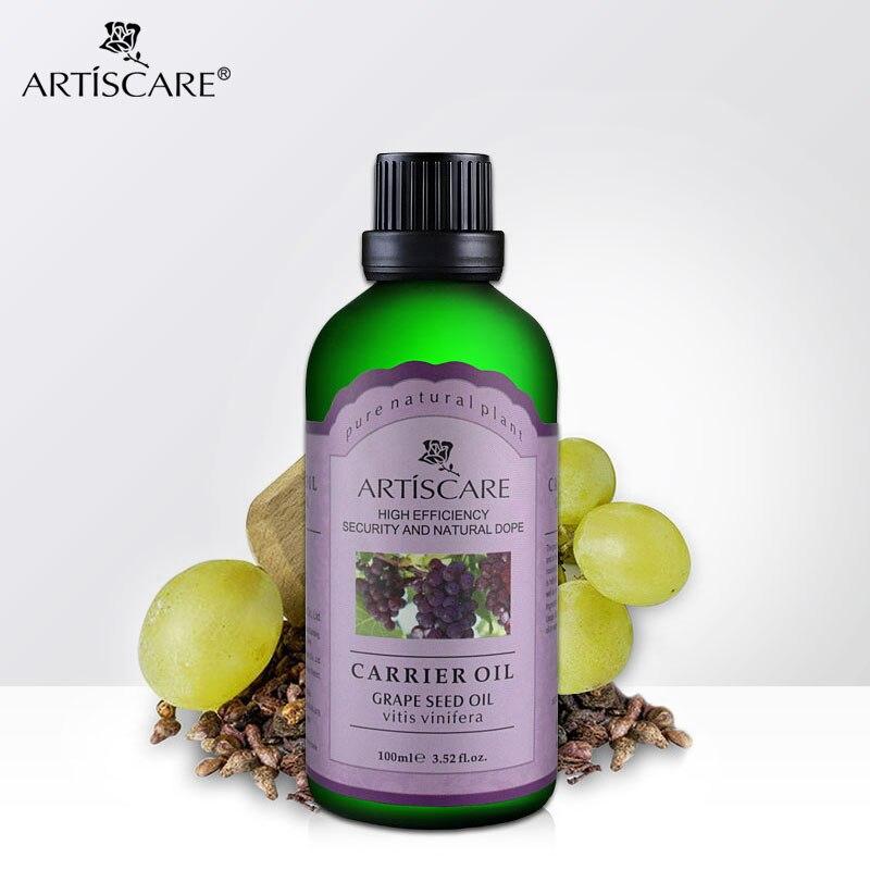 ARTISCARE 100ml naturalny olej z pestek winogron do opóźniania starzenia się ciała elastyczny olej SPA masaż olejek do twarzy olejki eteryczne pielęgnacja skóry