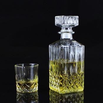 Kreatywny przezroczysty luksus bez ołowiu kwadratowa szklana butelka na wino whisky karafka alkohol pojemnik nalewak wino karafka na Bar tanie i dobre opinie LISM CN (pochodzenie) SQUARE CE UE Lfgb Szkło Ekologiczne Na stanie