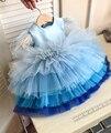 Детское платье для крещения, кружевное платье принцессы, летнее платье для младенцев на 1 год, день рождения, платье для рождественской вече...