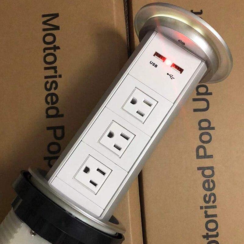 Pop Up Prisemotorisé Power Socket Built-in USB Téléphone Portable Chargeur