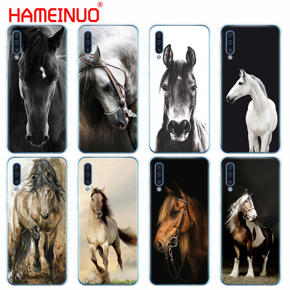 silicon phone cover case for Samsung Galaxy S10 E PLUS A10 A20 A30 A40 A50 A70 A10E A20E M20 case bumper coque Fine horse art