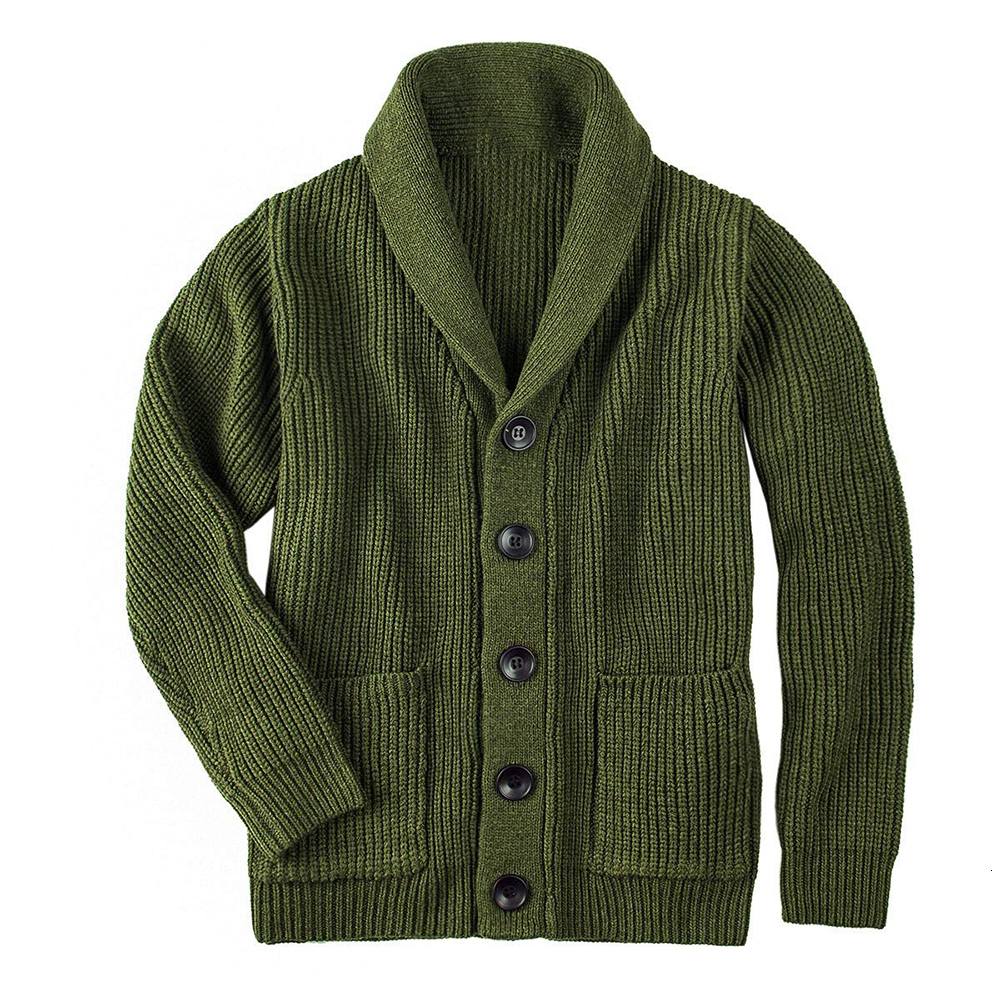 2019 New Men Fashion Sweater Autumn Winter Warm Knitted Cardigan Men Single Breasted Casual Outwear Sweater Coats With Pockets