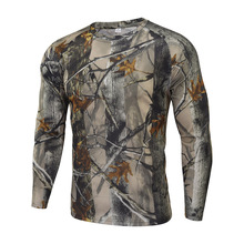 Outdoor Hunting Camouflage Quick-drying Long Sleeve T-shirt  Camping Breathable  Camouflage Clothing
