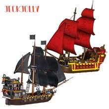 Criador navio pirata modelo blocos de construção do caribe filme barco diy piratas figuras idéias aventura veleiro tijolos crianças brinquedo presente