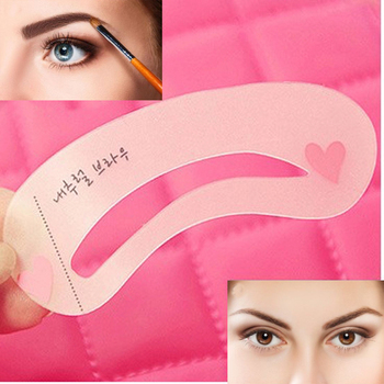 6 pieces 3 Style Eyebrow Stencil Pencils For Eyebrows Enhancer Card Template Auxiliary Beauty Fast Drawing Reusable Thrush tools