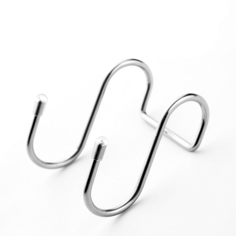 1 PCS Stainless Steel Double S-shaped Storage Hook, Storage Box Accessory For Bathroom Kitchen Wall And Door