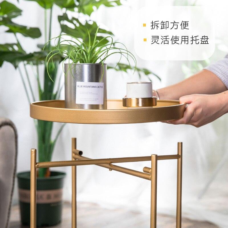 Mesas de sala de estar de hierro nórdico mesas laterales de café muebles gabinetes de esquina sala de estar moderna mesa de café de té moderna - 5