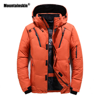 Moutainskin Winter New Men Coats Solid 5 Colors Hooded Cotton Jackets Male Casual Fashion Warm Jacket Men Brand Clothing SA821