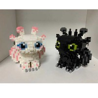Dragon 3 legoinglys toothless Night Fury Light Fury Dragon Building Blocks Brick toys for children B994