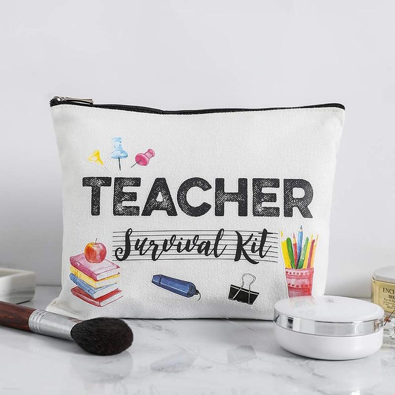 Music Classroom Teacher Student Travel Makeup Bag Pencil Pouch Graduation Back To School Teachers' Day New Year Christmas Gift