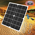 Портативная солнечная панель 30 Вт  5 В  USB  3 А  монокристаллическая Кремниевая солнечная панель ячеек солнечной панели для автомобиля  яхта  а...