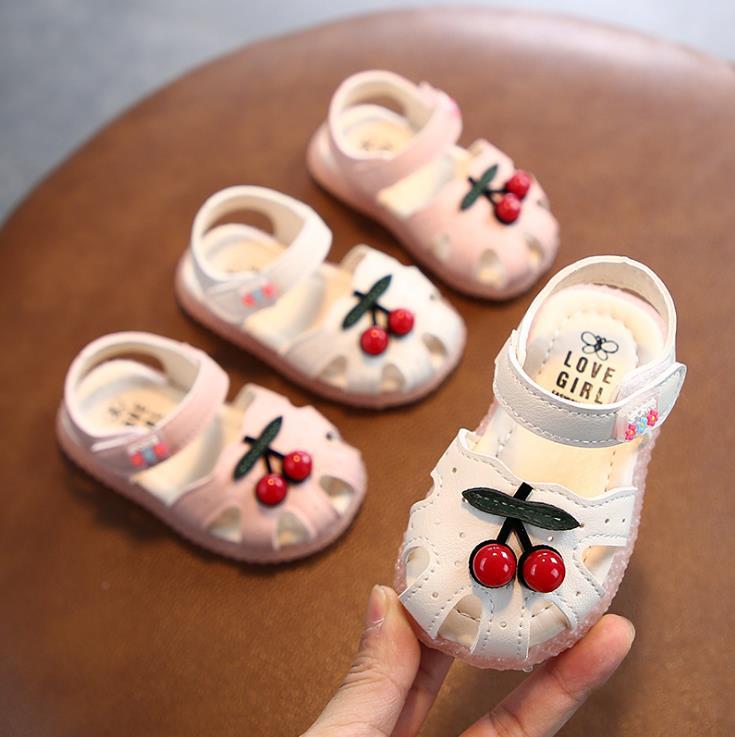 2020 Summer Baby Girl Sandals Kid Girls Infant Toddler Sandals  15-19 0-2years Pink White B-5 TX09