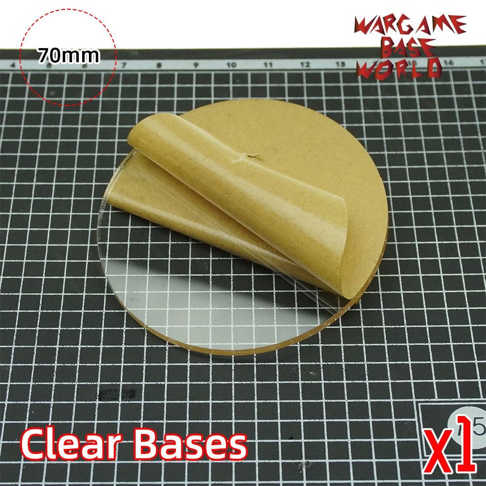 70mm Round Clear Bases TRANSPARENT / CLEAR BASES For Miniatures