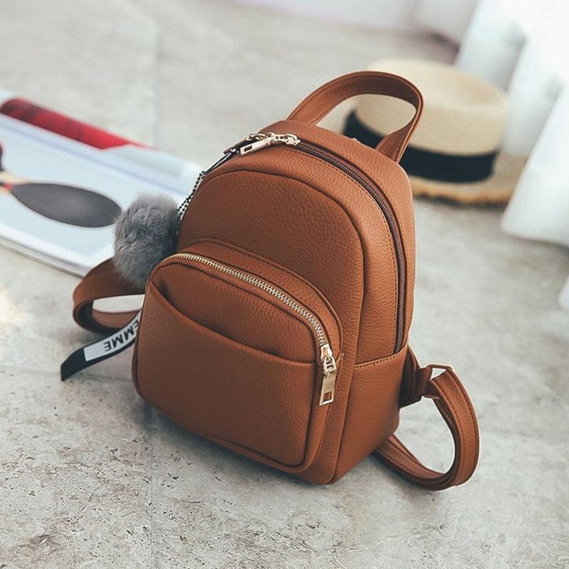 Women Backpack School Bag Leather Softback Multi-Function Waterproof Small Casual Fashion Backpacks For Teenage Girls Women Bags
