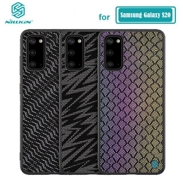 Per Samsung Galaxy Caso di S20 NILLKIN Scintillio Riflettente Cassa Dura del PC Della Copertura Posteriore per Samsung Galaxy S20 Ultra / S20 più il Caso di