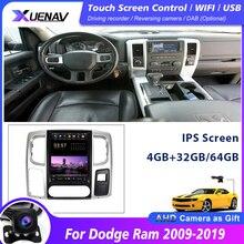 مشغل وسائط متعددة DVD للسيارة ، مع نظام ملاحة GPS ، ستيريو ، وحدة مركزية لسيارة دودج رام 2009 2019