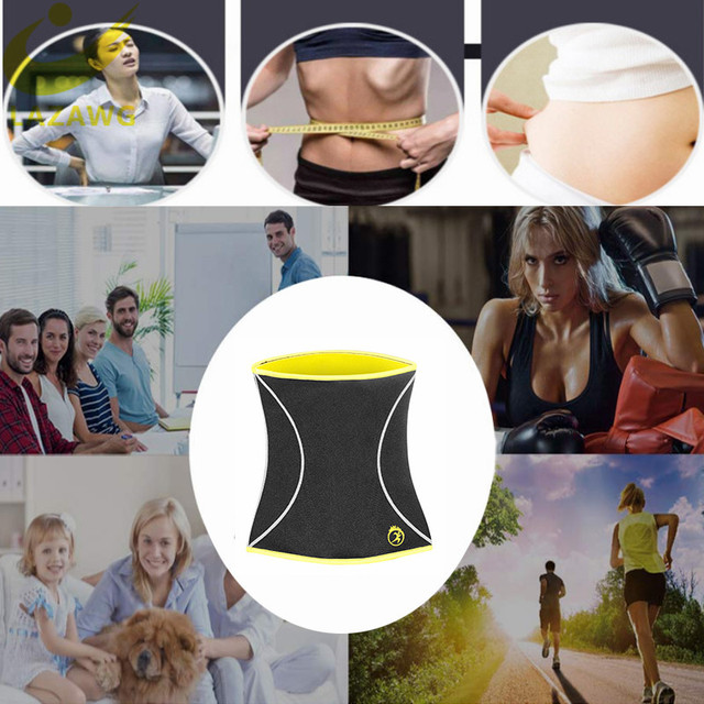 LAZAWG Women Waist Trainer Hot Neoprene Gym Workout Belt Sauna Sweat Girdle Body Shaper Tummy Control Fat Burn Corset Cincher 4