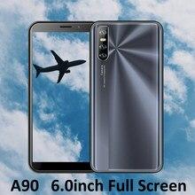 A versão global a90 4gb ram 64gb rom desbloqueou o núcleo esperto do quadrilátero dos telefones celulares wcdma/gsm da tela da gota de 6.0 polegadas